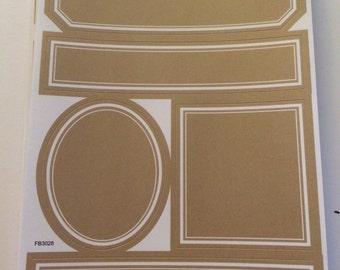 Kraft paper labels  various sizes