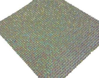 CraftbuddyUS 2000 Bulk Sheet 2mm Self Adhesive AB Clear Diamante Stick On Rhinestone Gems Craft