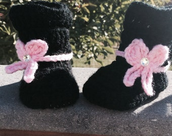 Mia slouch boots and matching headband