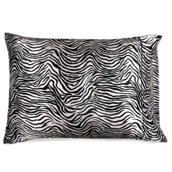 Zebra Print Satin Pillowcases in Standard or by ...