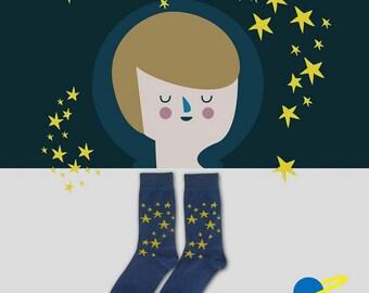 Sock - starry