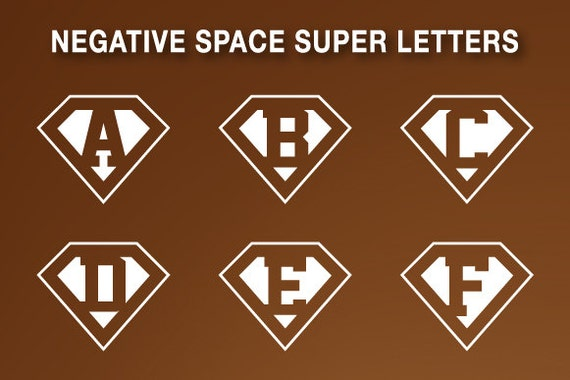 negative space letters superman letters negative space 23758 | il 570xN.671044305 73fk
