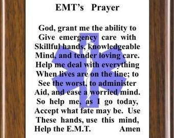 Emt prayer | Etsy