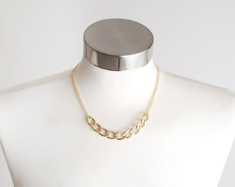 NECKLACE, Gold Necklace, Gold Jewelry, Gold Chain Necklace, Chain Necklace, Statement Necklace, Fashion Necklace, Costume Jewelry, Fashion