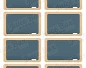 Set of 8 Chalkboard Stickers for Erin Condren Life Planner
