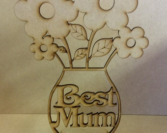 Best Mum mdf flowers