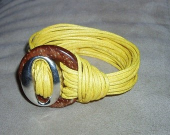 Waxed cord bracelet, various colors.  Double turn or simple.
