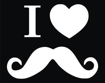 65 I love Mustaches T-shirt