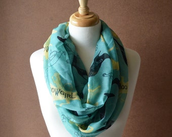 ON SALE - Cowgirl Infinity Scarf - Cowgirl Scarf