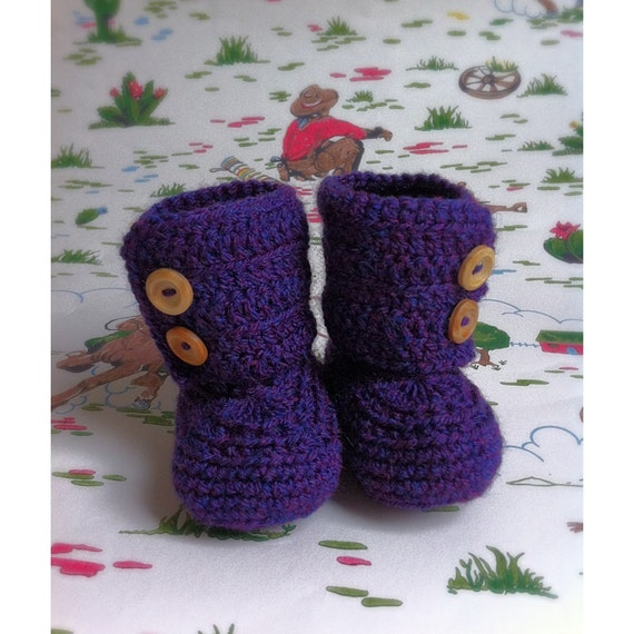 how to crochet ugg style baby booties