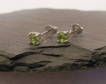 Some earrings, sterling silver with Peridot Green