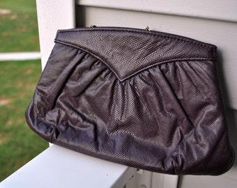 ON SALE - Classic Vintage Dark Purple Clutch