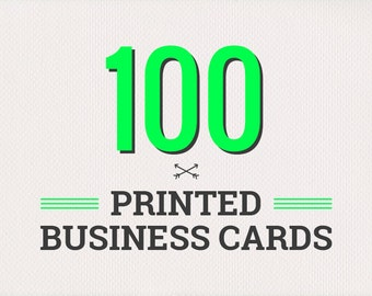 100 Printed Business Cards