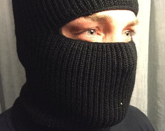 Black or green ski mask