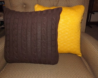 Recycled Sweater Throw Pillow
