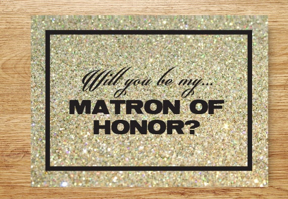 Will You Be My Matron Of Honor Bridal Card Wedding Party