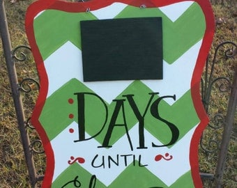 Christmas countdown - Days until Christmas - chalkboard sign