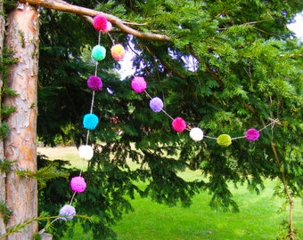 Decorative Made To Order Pom Pom Garland
