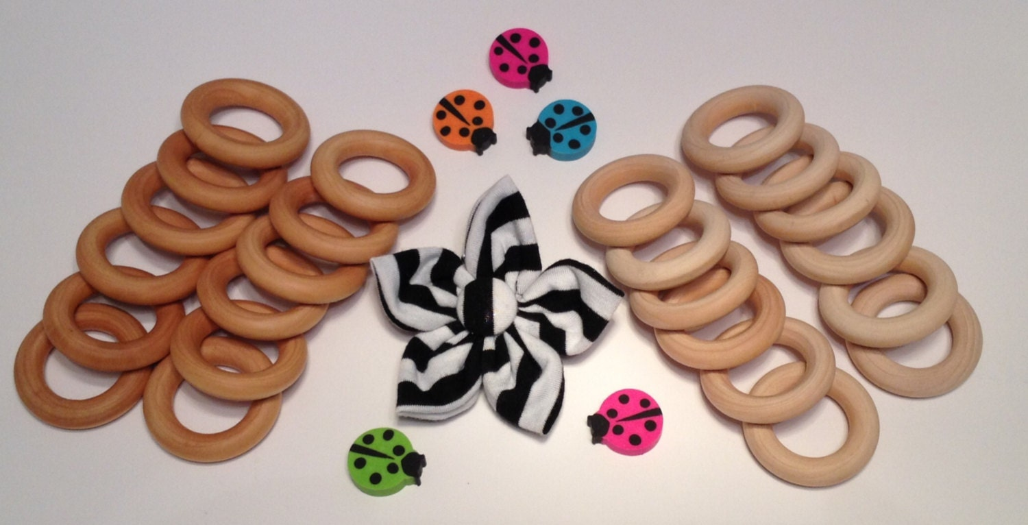 12 wooden diy craft rings for crafts teethers for Wooden rings for crafts