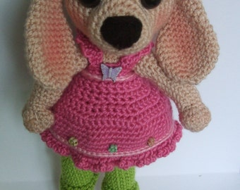 Shy amigurumi puppy-dog pattern(English)