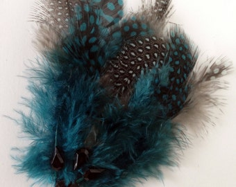 Feather Hair Clip// Flapper Style// Great Gatsby Inspired// Statement Hair Piece