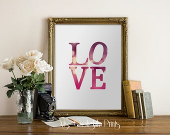 Love Typography Print, Wall Art, Quote Typography