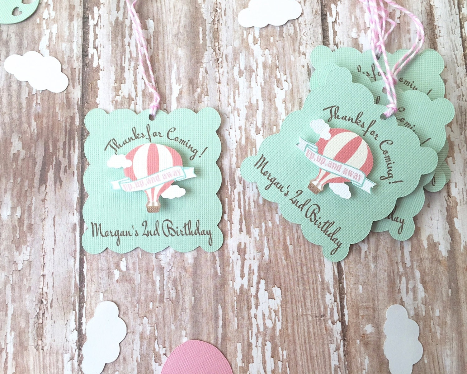 Birthday Tags: Personalized Birthday Favor Tags First Birthday Favor Tags