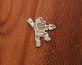 8Bit Brass Pin Face - Megaman Jumping