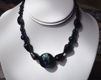 Lampwork Necklace in Black