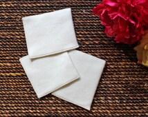 Bamboo Fabric Face Wash|organic cotton|Natural face wash cloth|3x4inch|baby wash cloth|Organic Bamboo Fleece|Made in USA| Rosie's idea