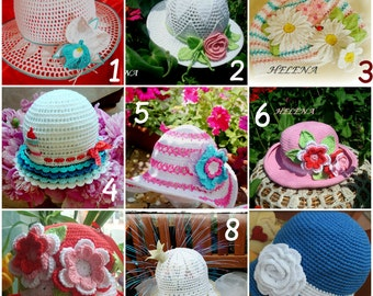 Summer crochet hats!