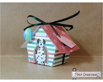 "PRINTABLE GIFT (or treats) BOX ""Dog house"" (digital template)"