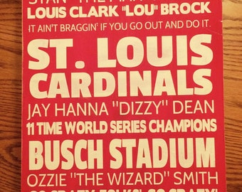 St. Louis Cardinals wood hand painted sign