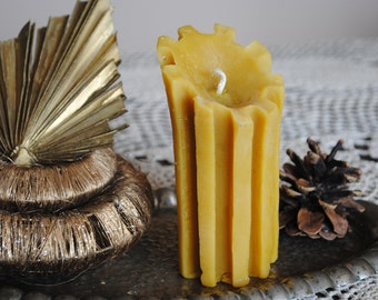 Beeswax Pillar Candle - Xmas, Christmas Table Centre Piece - Pillar Candle Beeswax Candle
