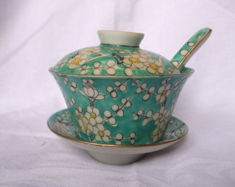 Y.T.Japanese porcelain ware decorated in hong kong rice bowl saucer set