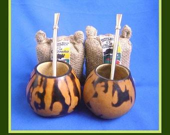 Organic Yerba Mate Bag + Gourd + Bombilla / BUY 1 & GET 1 FREE!