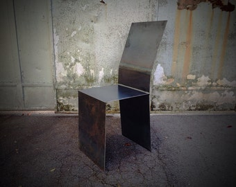 Handmade, decorative steel chair