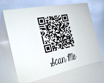 QR Code Card must be purchased with order
