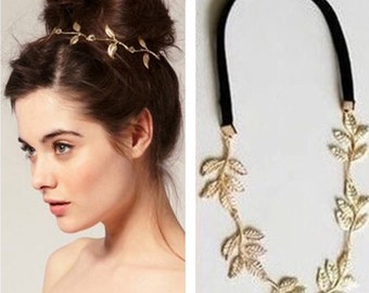 Gold Leaf Women Headband / Hair Accessories Band Girls Ladies / Women Hairband / Beautiful Hairband