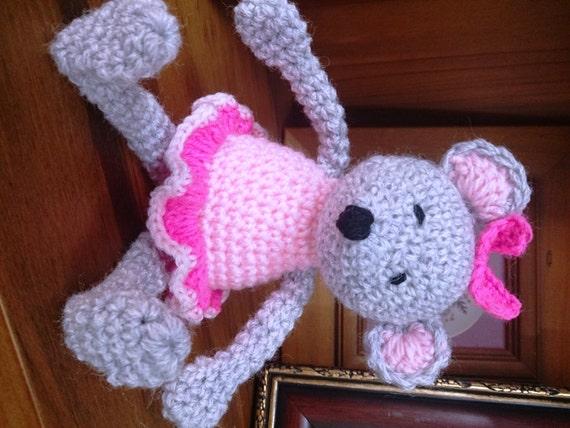 Amigurumi Mouse Ballerina Doll Stuffed by BeautiWoolTreasures