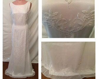 Long White Gown #4100