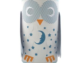 Owl Children's Table Lamp - Blue