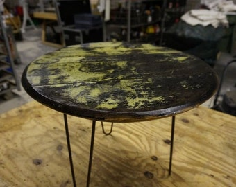 Reclaimed Whiskey Barrel Top Coffee Table