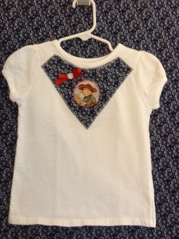 Infant/Toddler/Girl's Cowgirl appliqué t-shirt