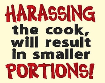 Harassing The Cook DOWNLOAD DIGITAL Design 4x4 and 5x7
