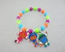 Team Umizoomi Charm Bracelet, Team Umizoomi Jewelry, Team Umizoomi Necklace, Team Umizoomi Party Favors, Team Umizoomi Birthday