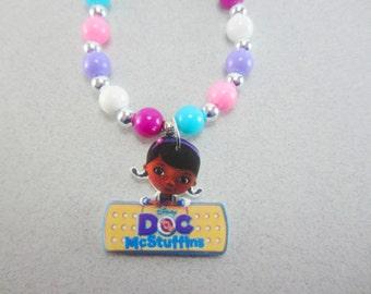 Doc McStuffins Charm Necklace, Doc McStuffins Necklace, Doc McStuffins Jewelry, Doc McStuffins Party Favors, Doc McStuffins Birthday