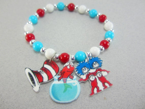 cat in the hat charm bracelet cat in the hat by childishantics