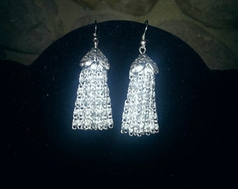 beautiful handmade metal earrings