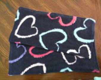 Heart Flannel Cloth Napkins